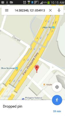 google maps location of vehicle gps tracker