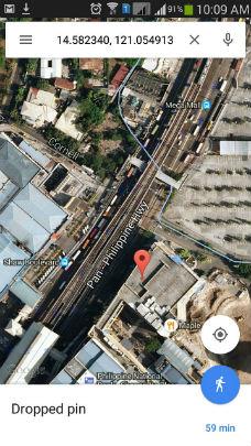 street map location of gps tracker