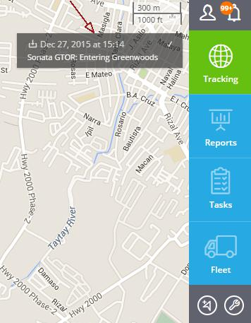notification for gps web tracking platform