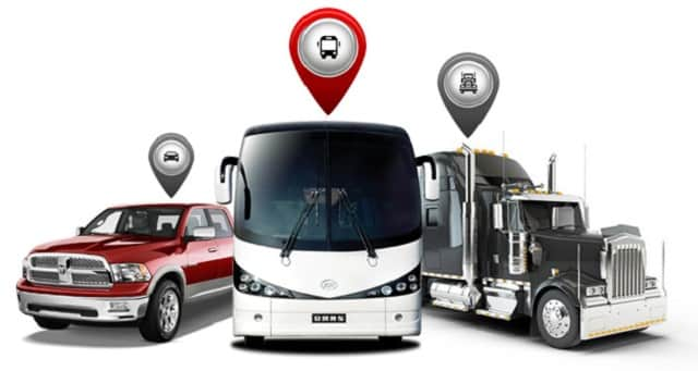 Buses with LTFRB gps trackers